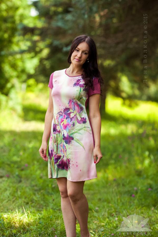Платье Коктейль из ирисов