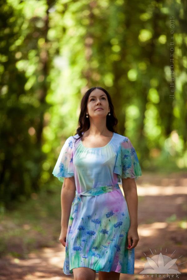 Платье Васильковая улыбка